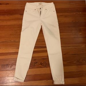 Never worn Levi's Made & Crafted off-white jeans
